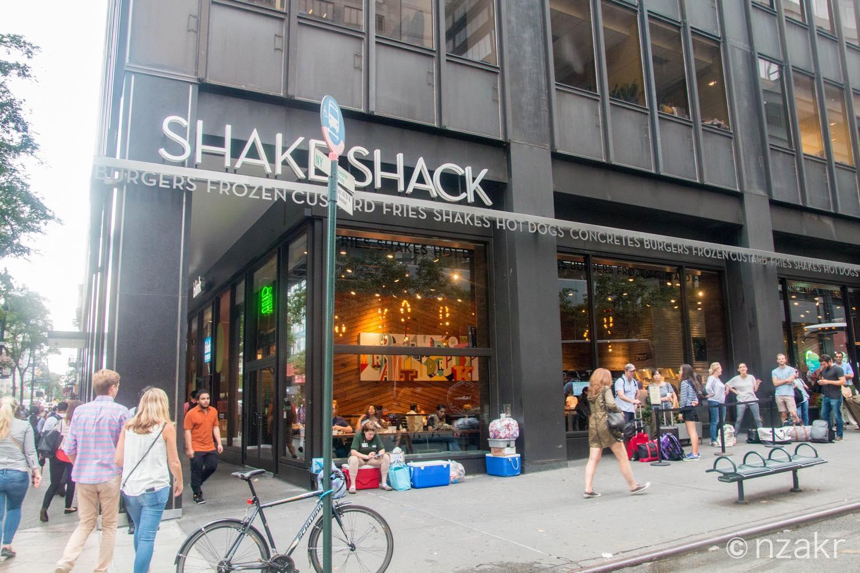 ニューヨークのシェイクシャック(SHAKESHACK)