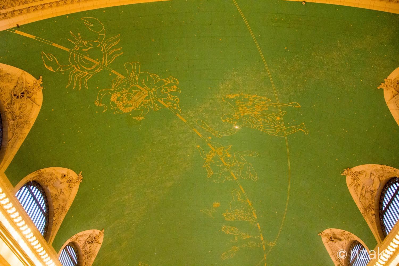 グランドセントラル駅のコンコース天井