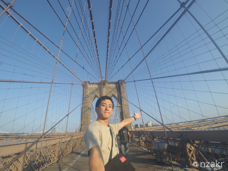 ブルックリンブリッジと自分