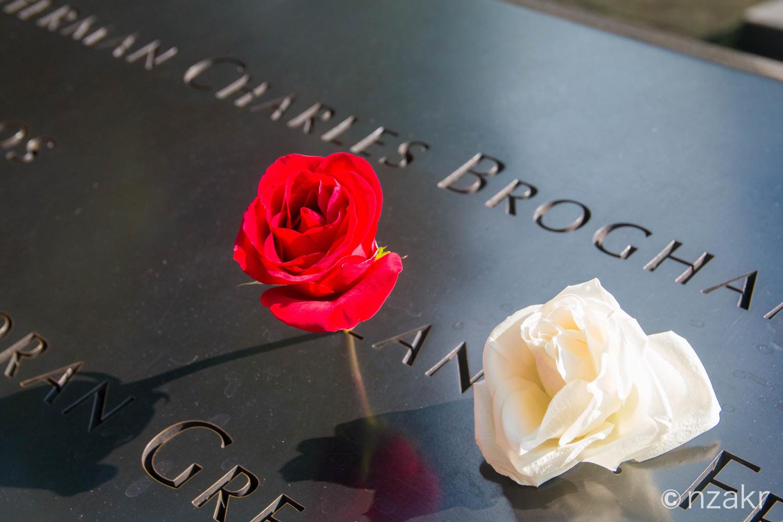 跡地の縁には亡くなられた方の名前が掘られています