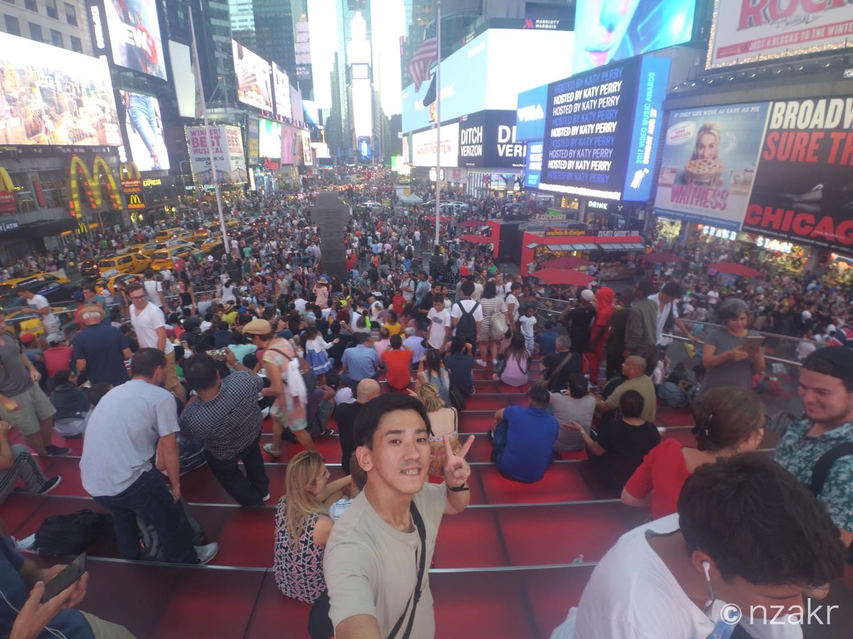 タイムズスクエアと自分