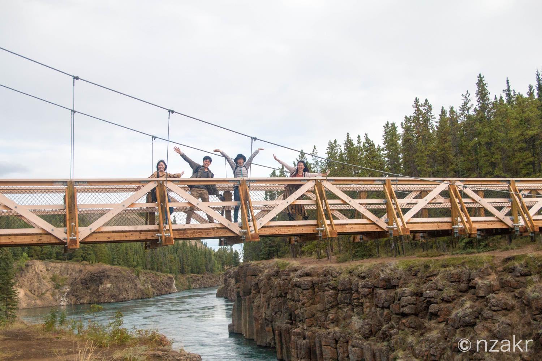マイルズキャニオンの吊り橋
