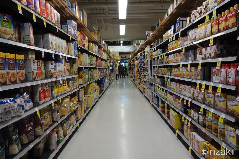 スーパーの廊下