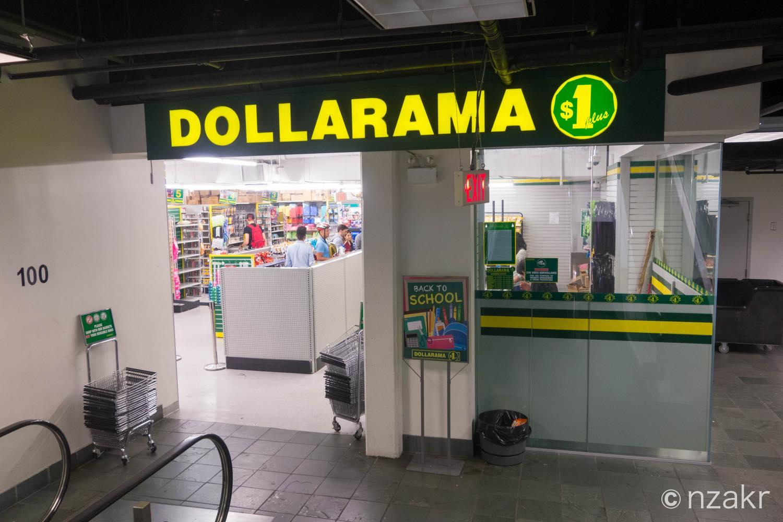 1ドルショップ(Dollarama)