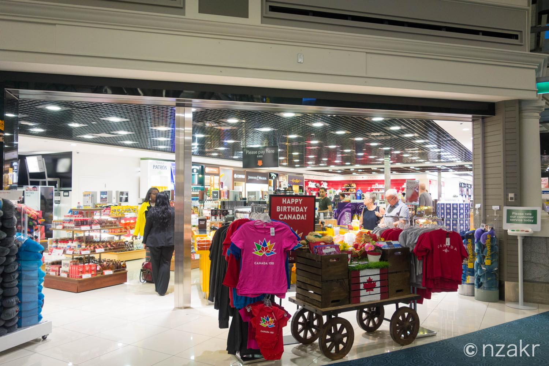 バンクーバー国際空港の免税店