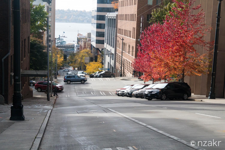 坂道が多いシアトル