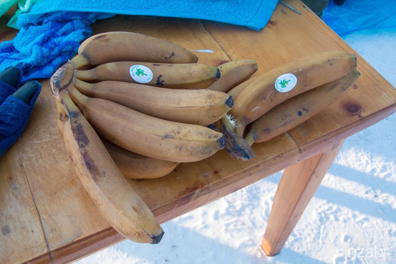 凍ったバナナ