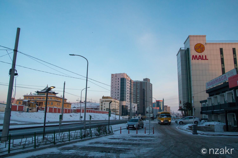 モンゴル 冬の屋外