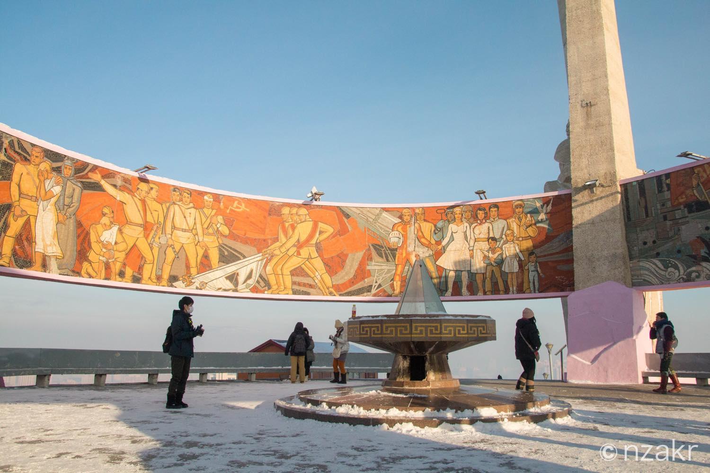 モンゴルの壁画