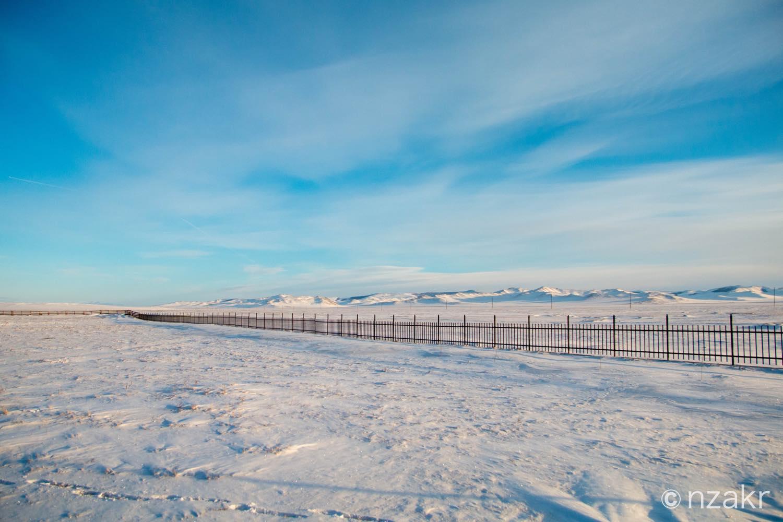 モンゴルの雪原