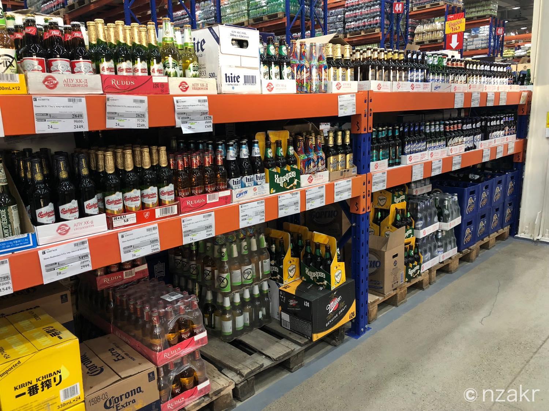 モンゴルのスーパーのお酒