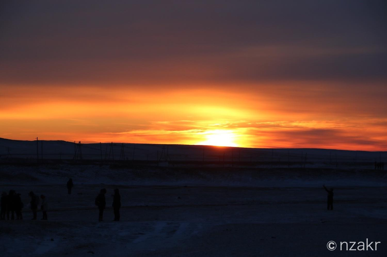 初日の出 in モンゴル