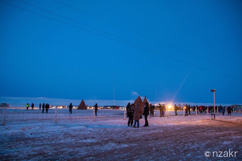 外はマイナス31度のモンゴル