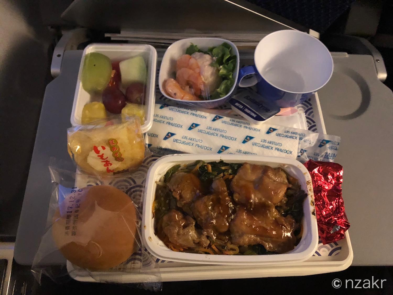 MIATモンゴル航空の機内食