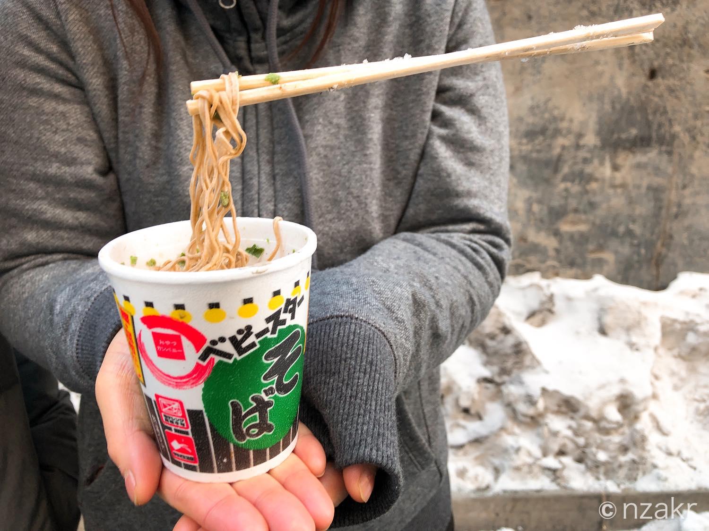 モンゴルの冬はカップラーメンも凍ります