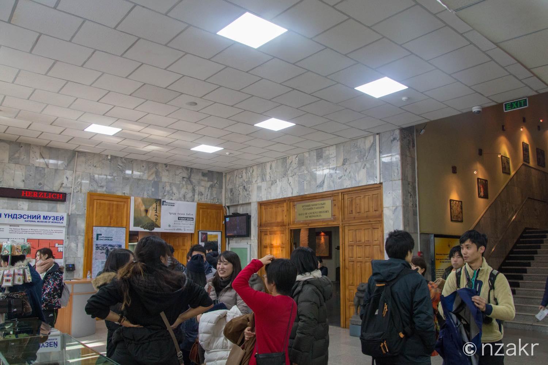 モンゴル歴史博物館の館内