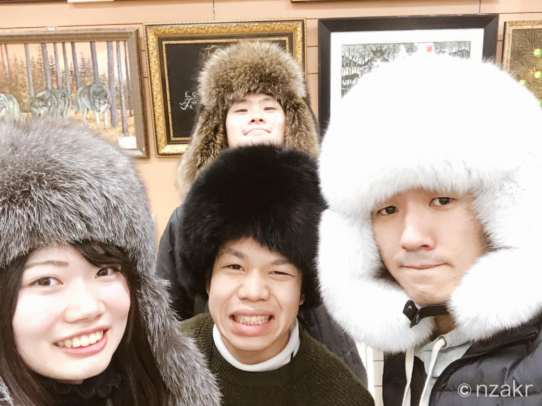 モンゴル人お馴染みの帽子