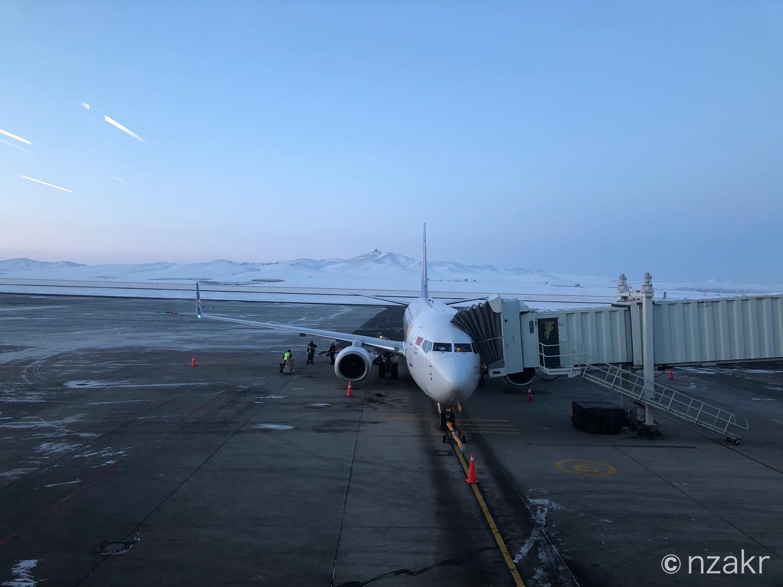 モンゴル航空のボーイング737
