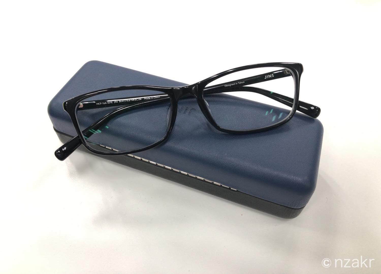 JINS(ジンズ)で購入したメガネ