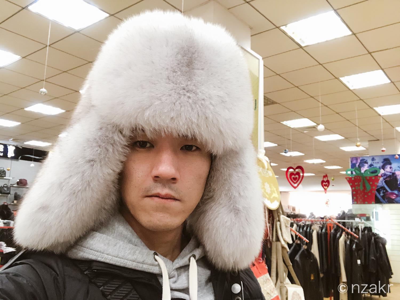 モンゴル風の帽子
