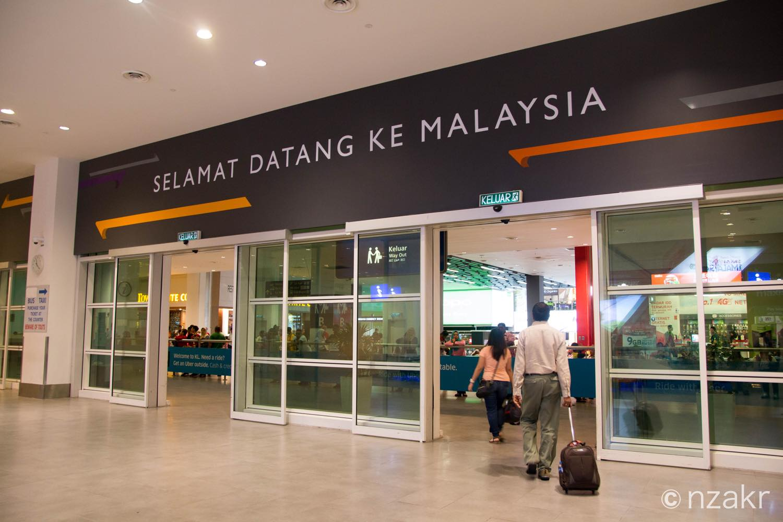 マレーシアに入国
