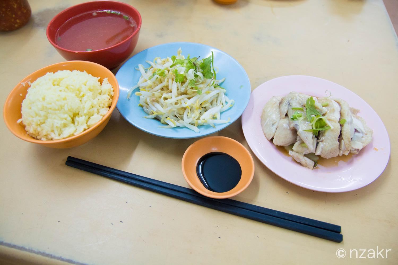 カオマンガイセット(海南鶏飯)
