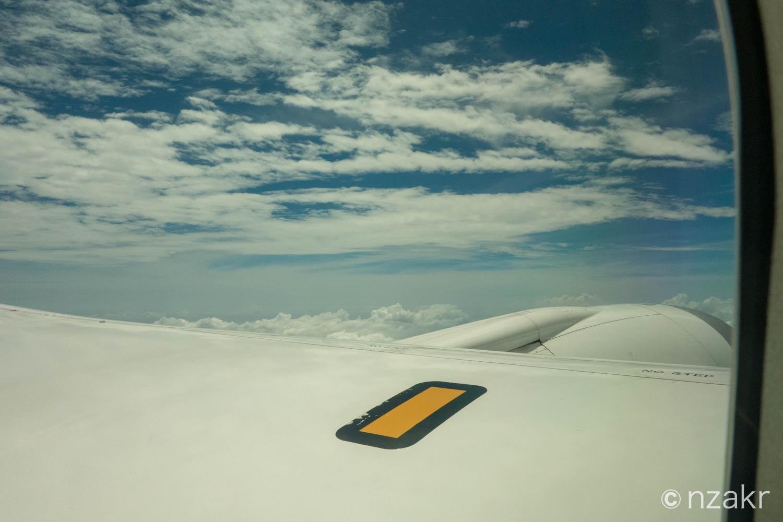フライト後の空の様子