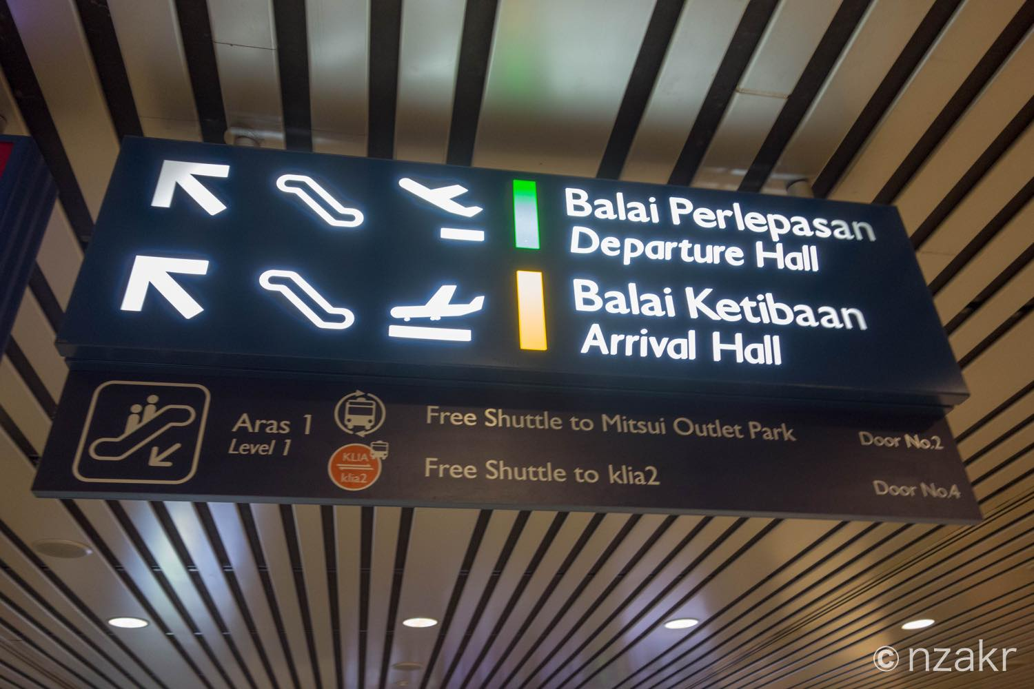 Free Shuttle to Klia 2 Door No.4