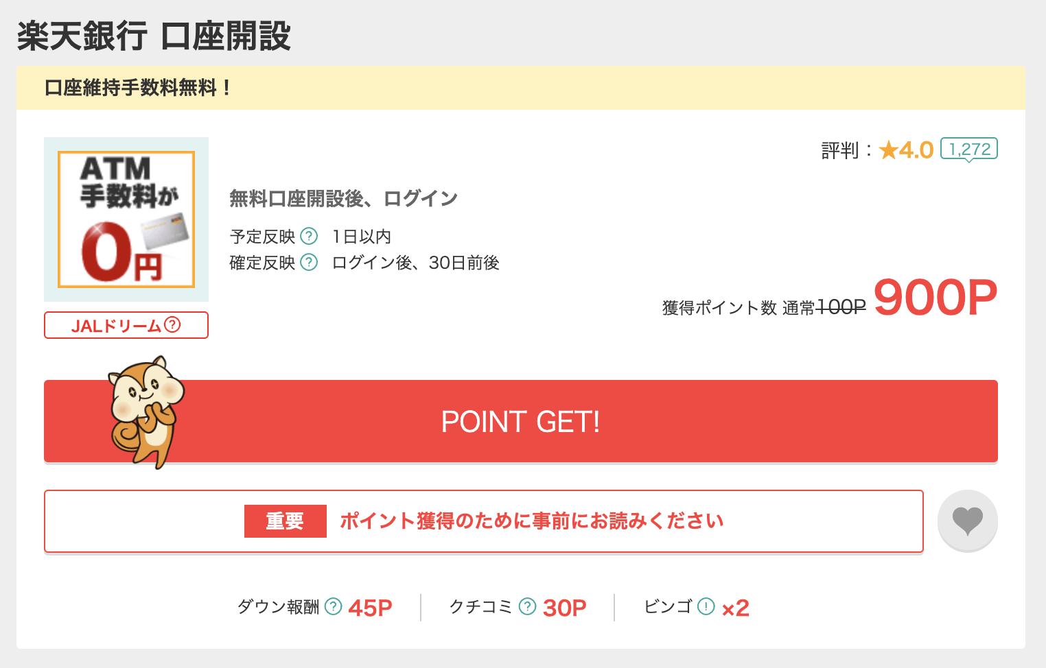 楽天銀行 ポイントサイト