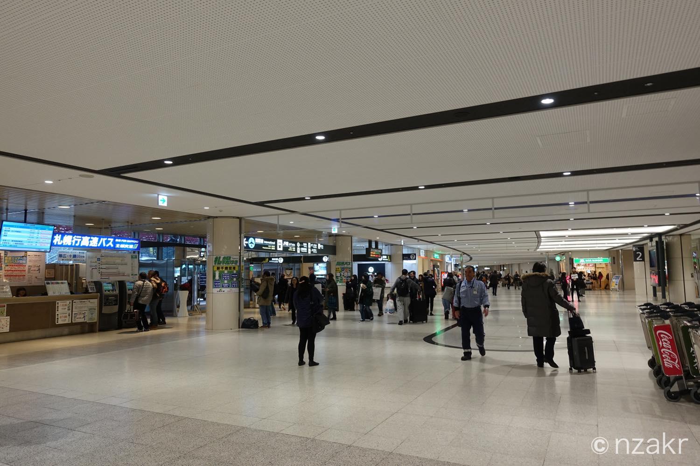 新千歳空港のアライバル