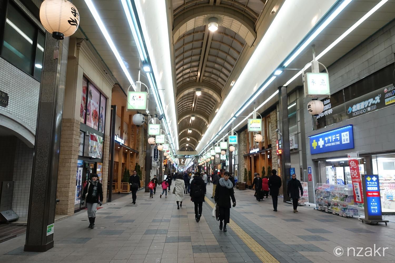 札幌のアーケード