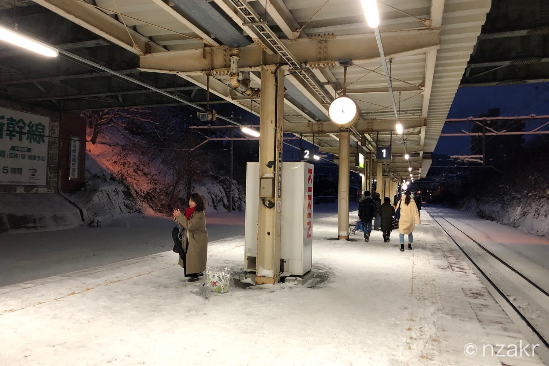 南小樽駅のホーム