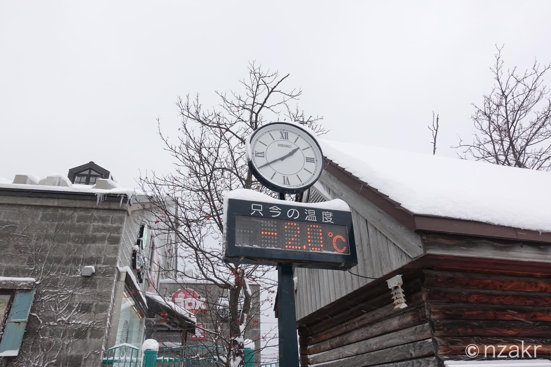 12月の小樽の気温