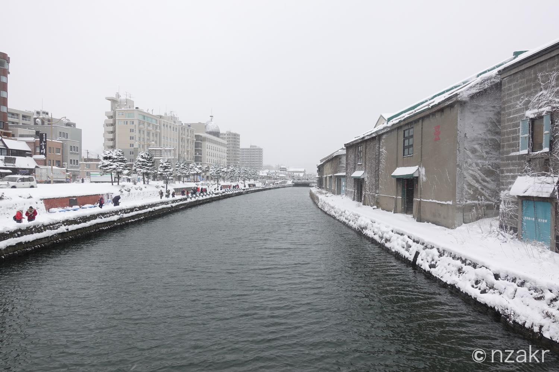 浅草橋から眺める小樽運河