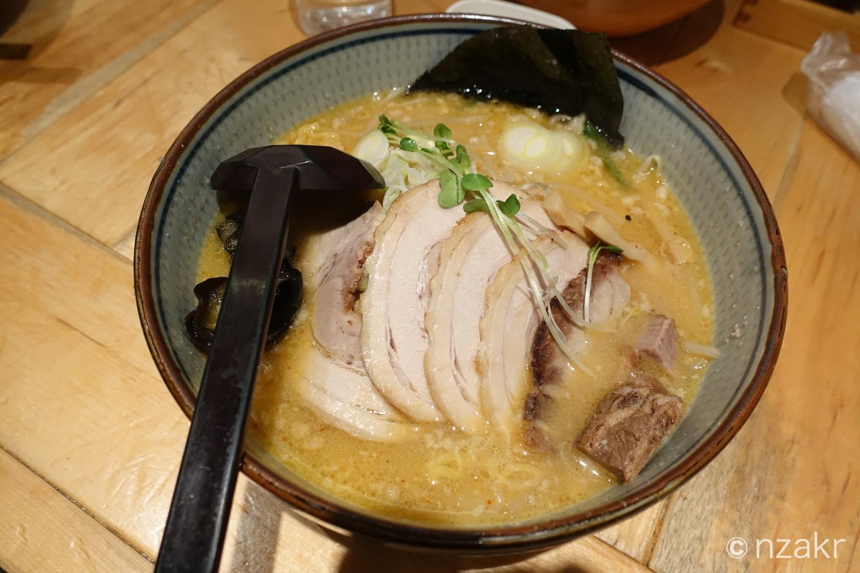 『白樺山荘』の味噌チャーシューメン