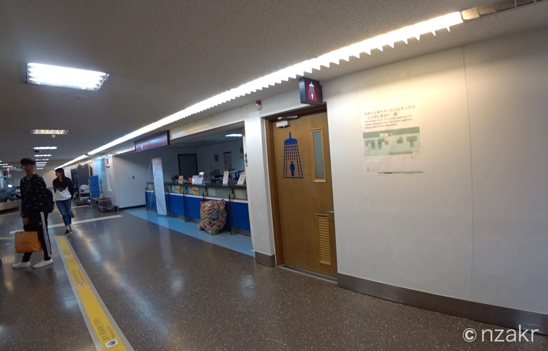桃園国際空港のシャワー