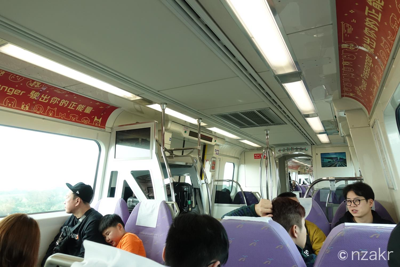 MRTに乗って台北市内に移動