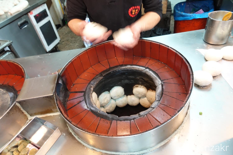胡椒餅の焼き方