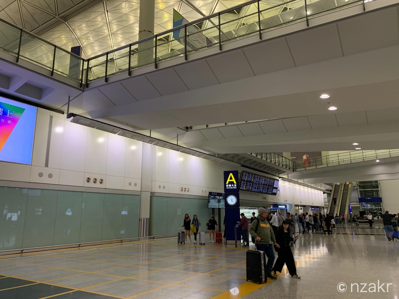 香港国際空港の到着エリア