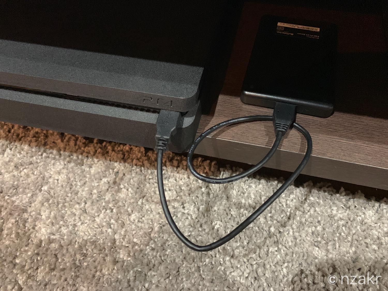 外付けSSDをPS4に接続