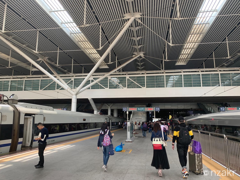 中国の深セン 深圳北駅